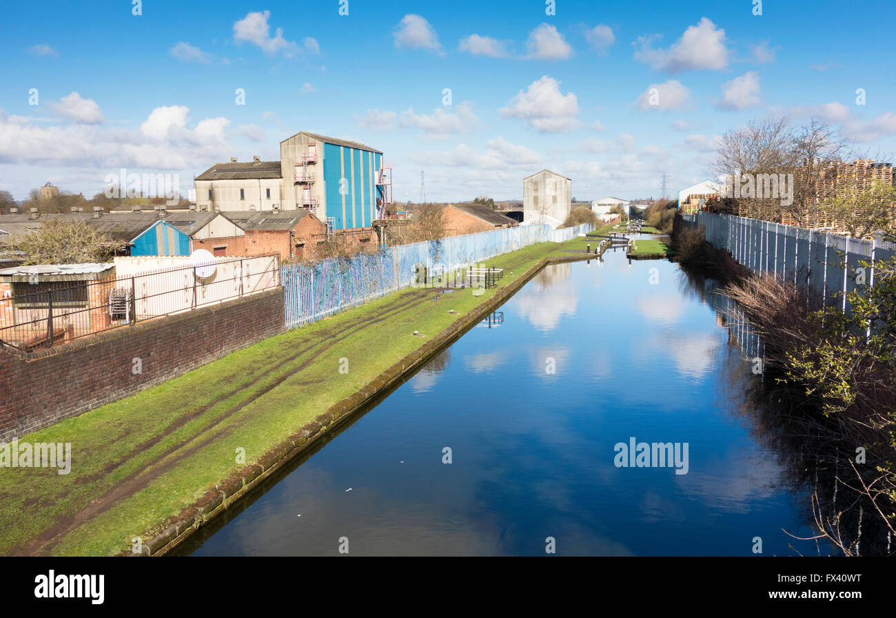 Ryders Green canal locks in the Black Country, Tipton West Midlands UK - Stock Image