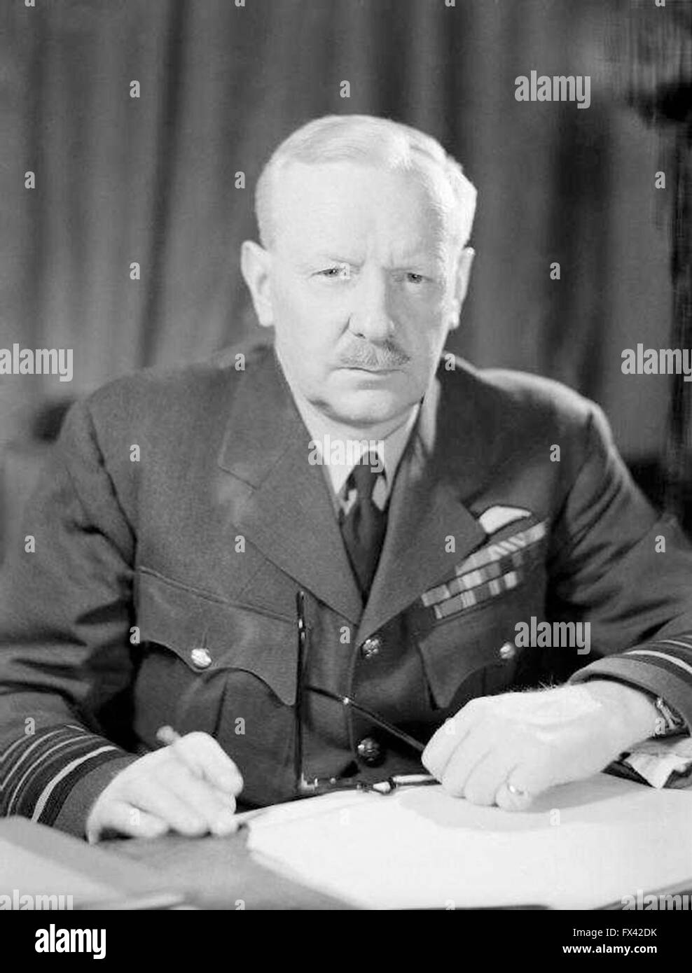 Air Chief Marshal Sir Arthur Harris, Commander in Chief of Royal Air Force Bomber Command - Stock Image