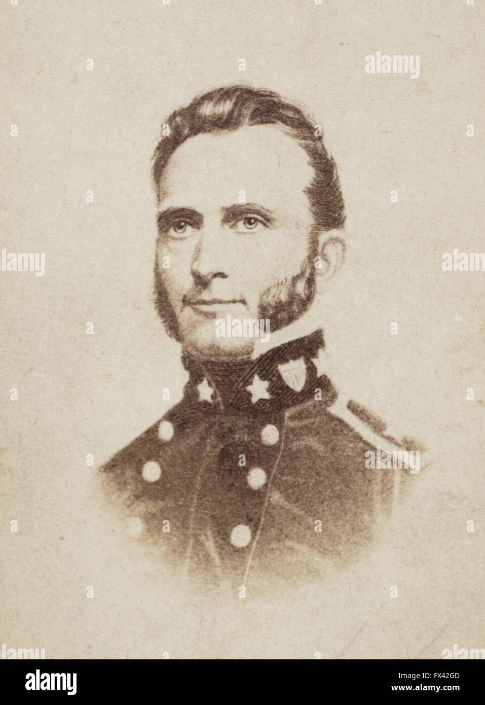 General 'Stonewall' Jackson, Confederate general during the American Civil War. General Thomas Jonathan - Stock Image