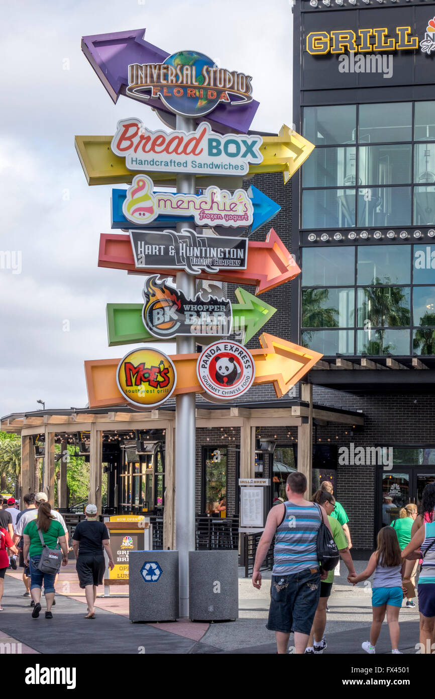 Shops And Restaurants At Universal Studios City Walk Orlando Florida