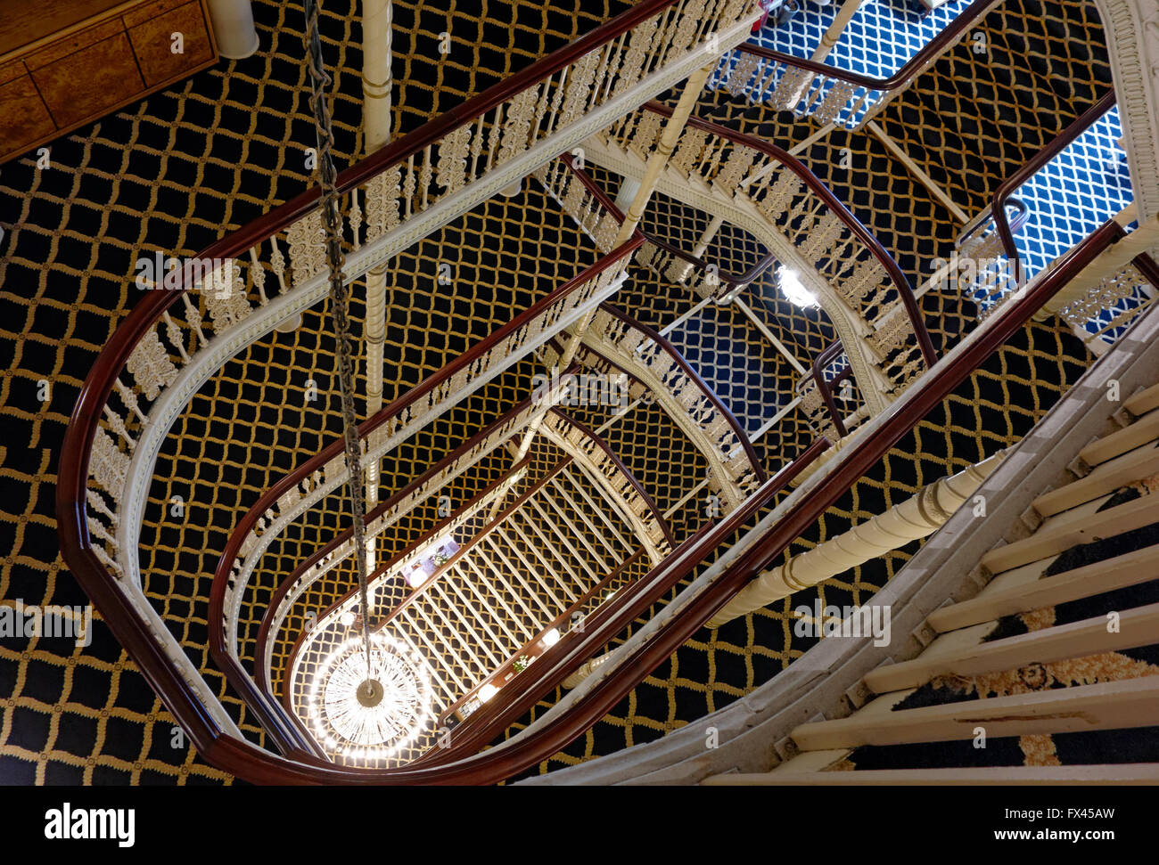 Chandelier And Staircase Of The Britannia Hotel Portland Street
