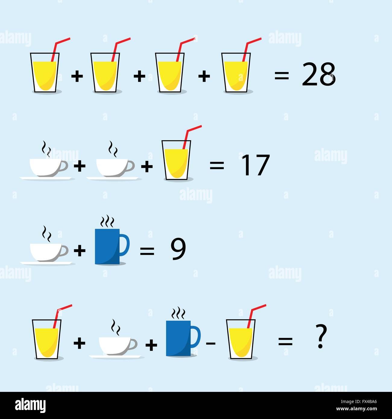 Math Puzzle, Decision Making, Solve Trick Question Stock Vector Art ...