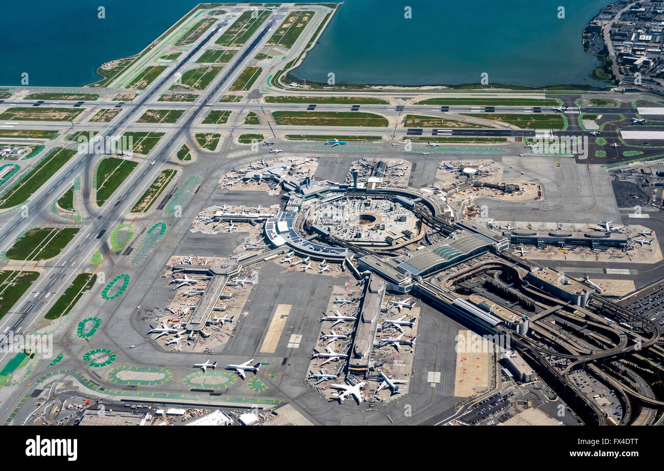 Aerial International Airport of San Francisco SFO