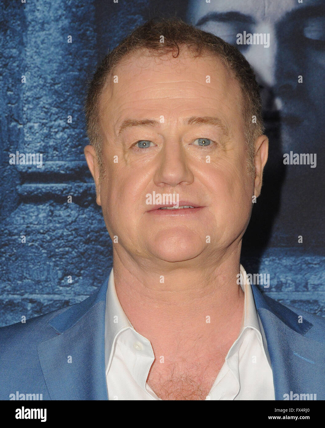 Hollywood, CA, USA. 10th Apr, 2016. 10 April 2016 - Hollywood, California - Owen Teale. Arrivals for the Premiere Stock Photo