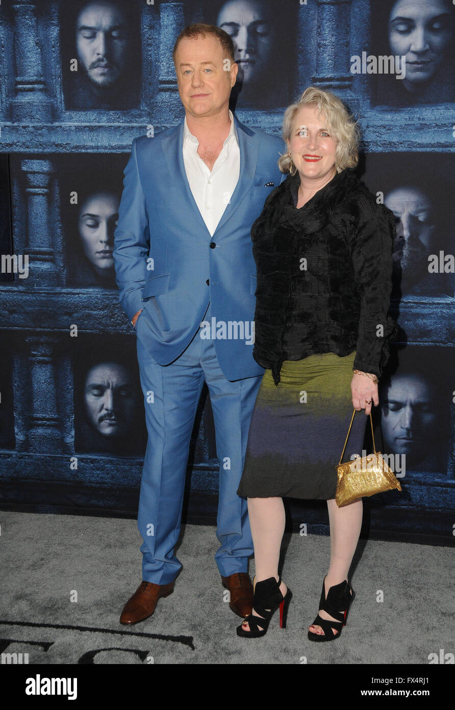 Hollywood, CA, USA. 10th Apr, 2016. 10 April 2016 - Hollywood, California - Owen Teale. Arrivals for the Premiere - Stock Image