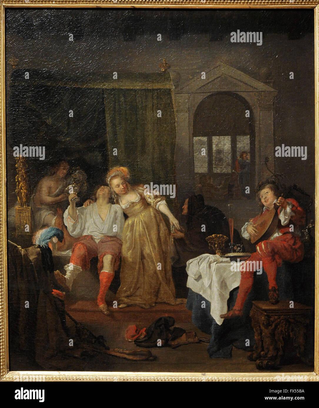 Gabriel Metsu (1629-1667). Dutch painter. Prodigal Son, 1640s. The State Hermitage Museum. Saint Petersburg. Russia. - Stock Image
