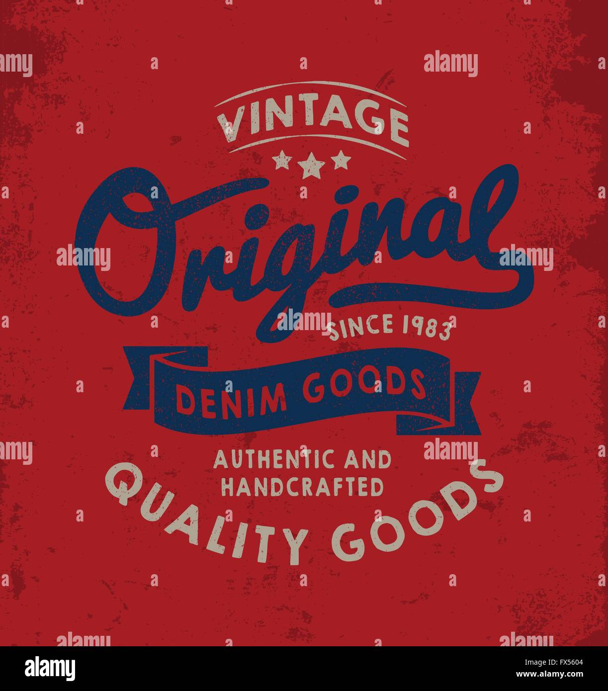 7d16179e Original vintage Denim print for apparel. Old school graphic for fashion  and printing. Retro artwork and vintage typography.