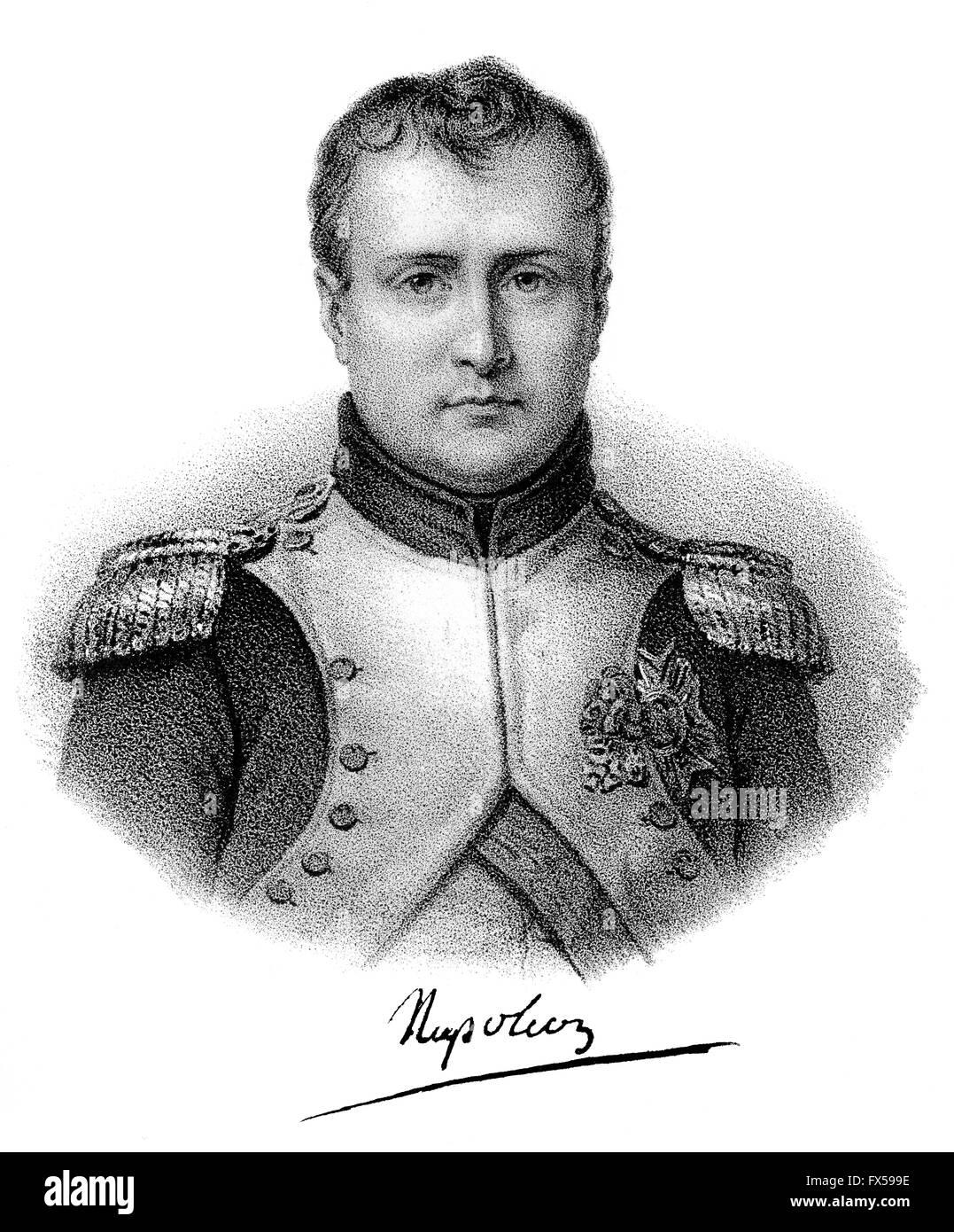 Napoléon Bonaparte, 1769-1821, Emperor of the French as Napoleon I - Stock Image