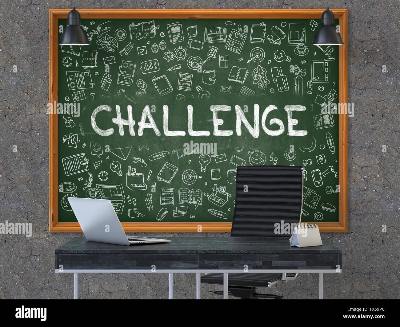 chalkboard office. Challenge On Chalkboard In The Office. Office