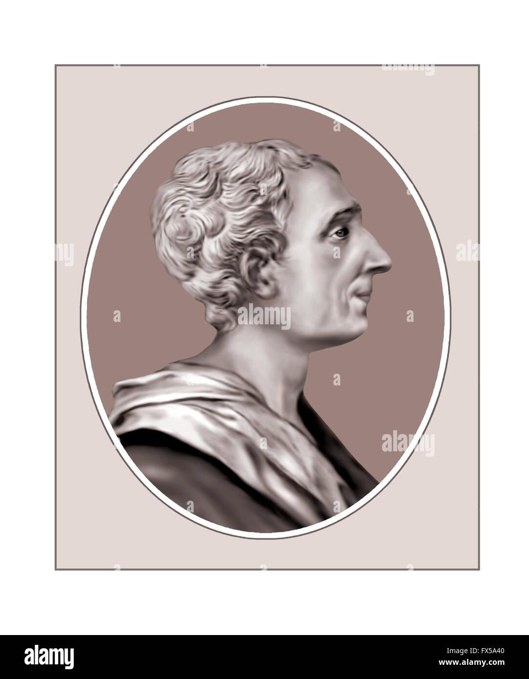 Montesquieu, 1689-1755, Philosopher, Jurist - Stock Image