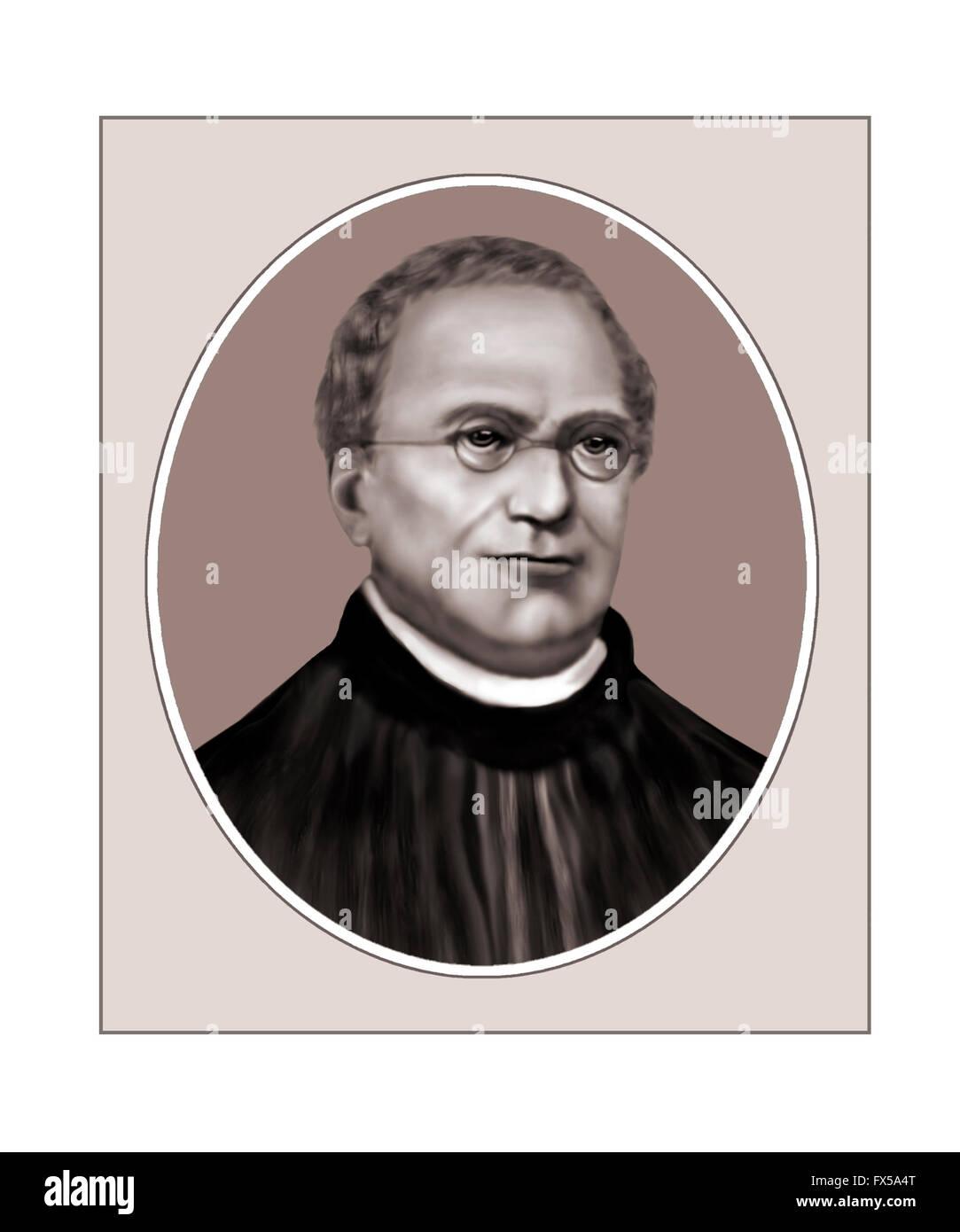Gregor Johann Mendel, 1822-1884, Moravian Monk - Stock Image
