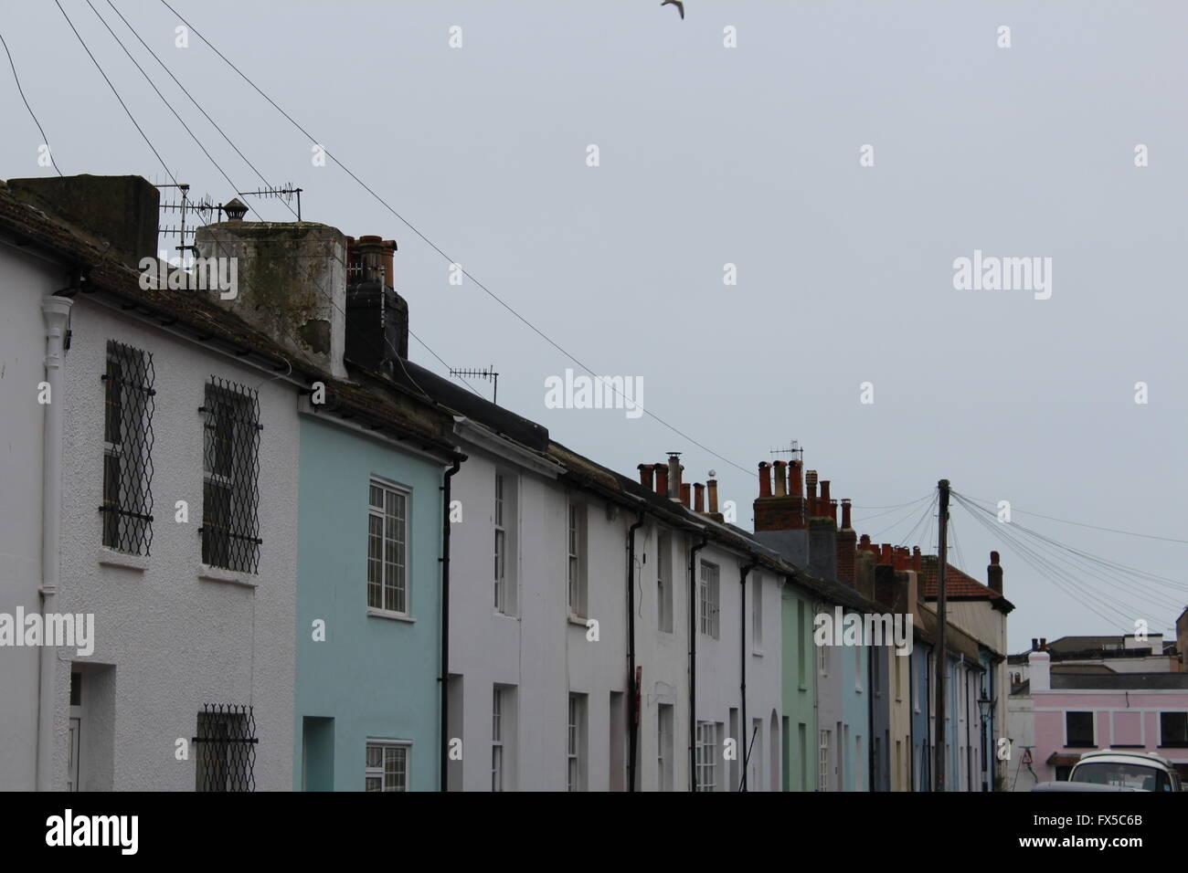 colourful houses - Stock Image