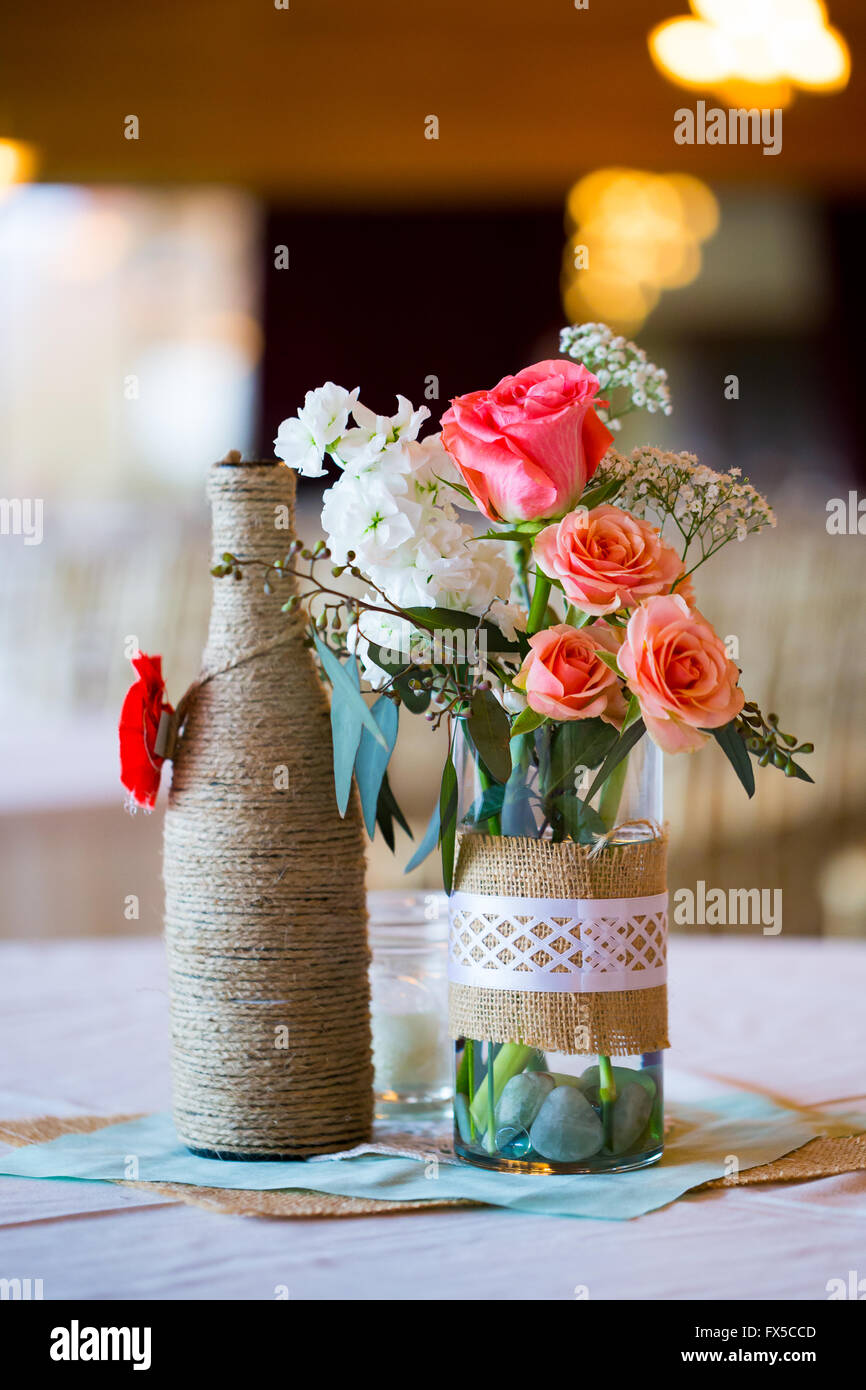 Astonishing Diy Wedding Decor Table Centerpieces With Wine Bottles Interior Design Ideas Apansoteloinfo