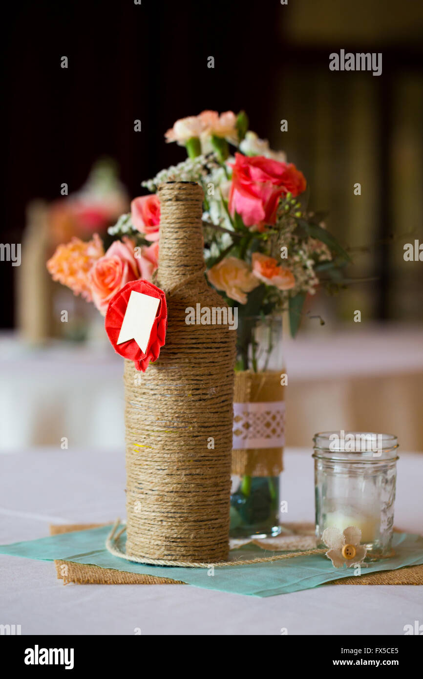 Remarkable Diy Wedding Decor Table Centerpieces With Wine Bottles Interior Design Ideas Apansoteloinfo