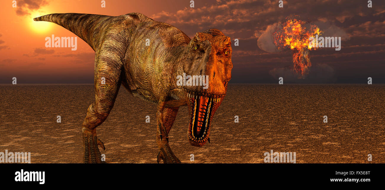 The End Of The Dinosaurs. - Stock Image
