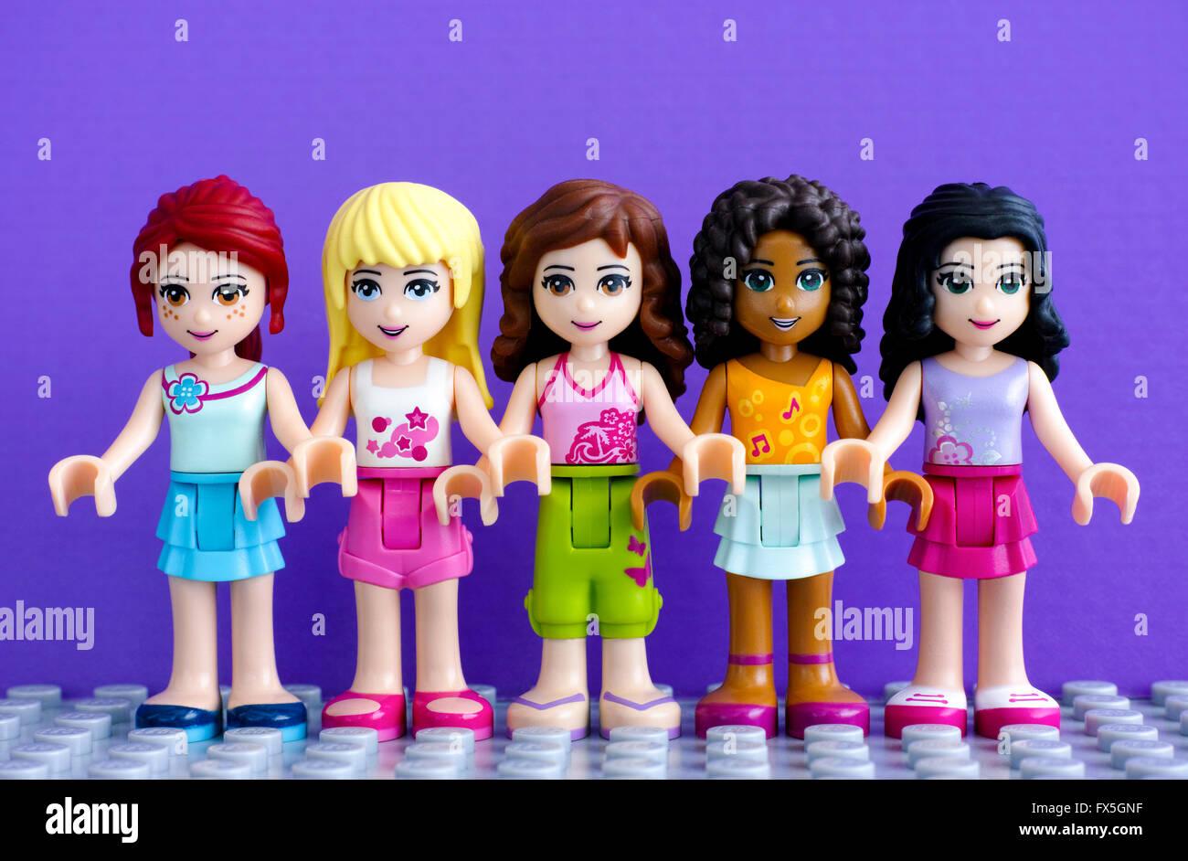 Tambov Russian Federation April 01 2016 Lego Friends Girl Stock