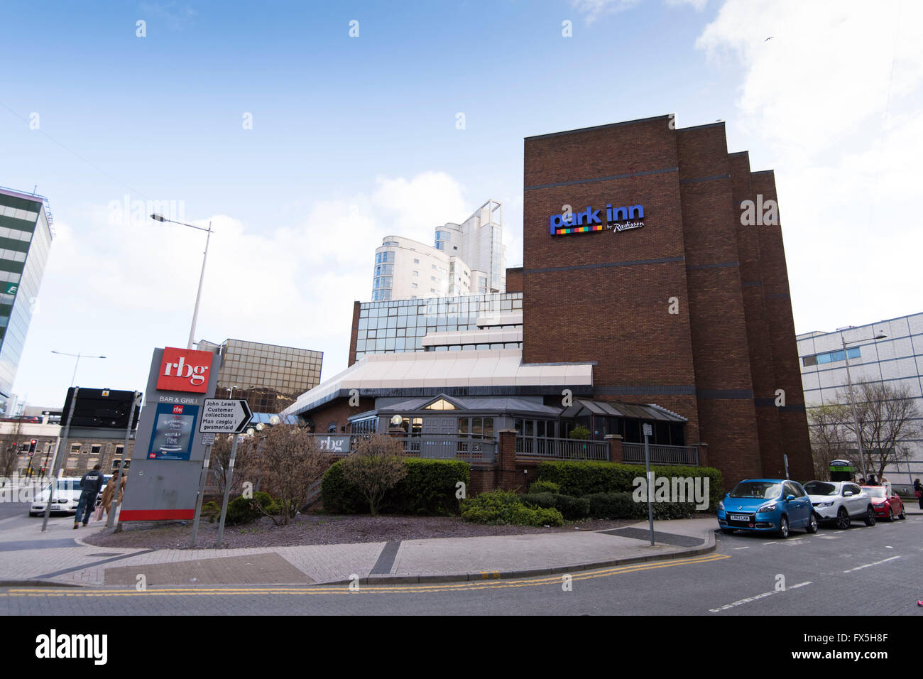 Park Inn by Radisson hotel on Mary Ann St, Cardiff, south Wales. - Stock Image