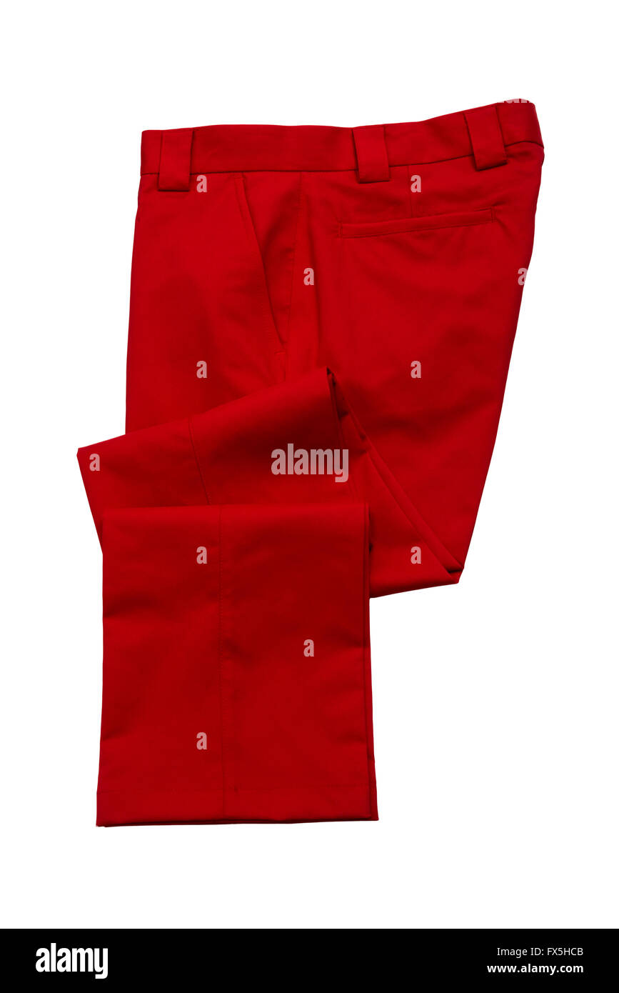 Red pants, trousers - Stock Image