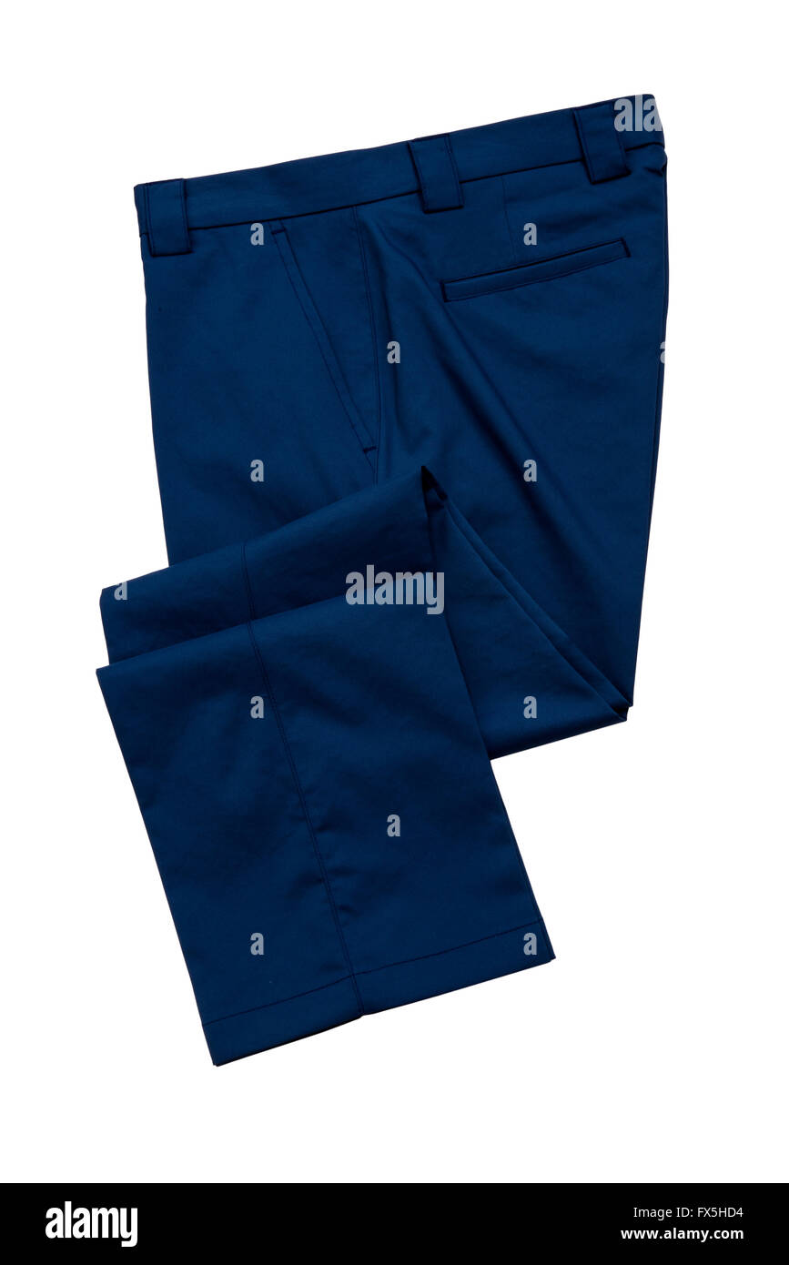 Blue pants, trousers - Stock Image