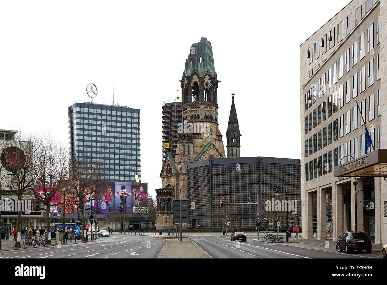 Street view  in the Germany Capital, Berlin - Stock Image