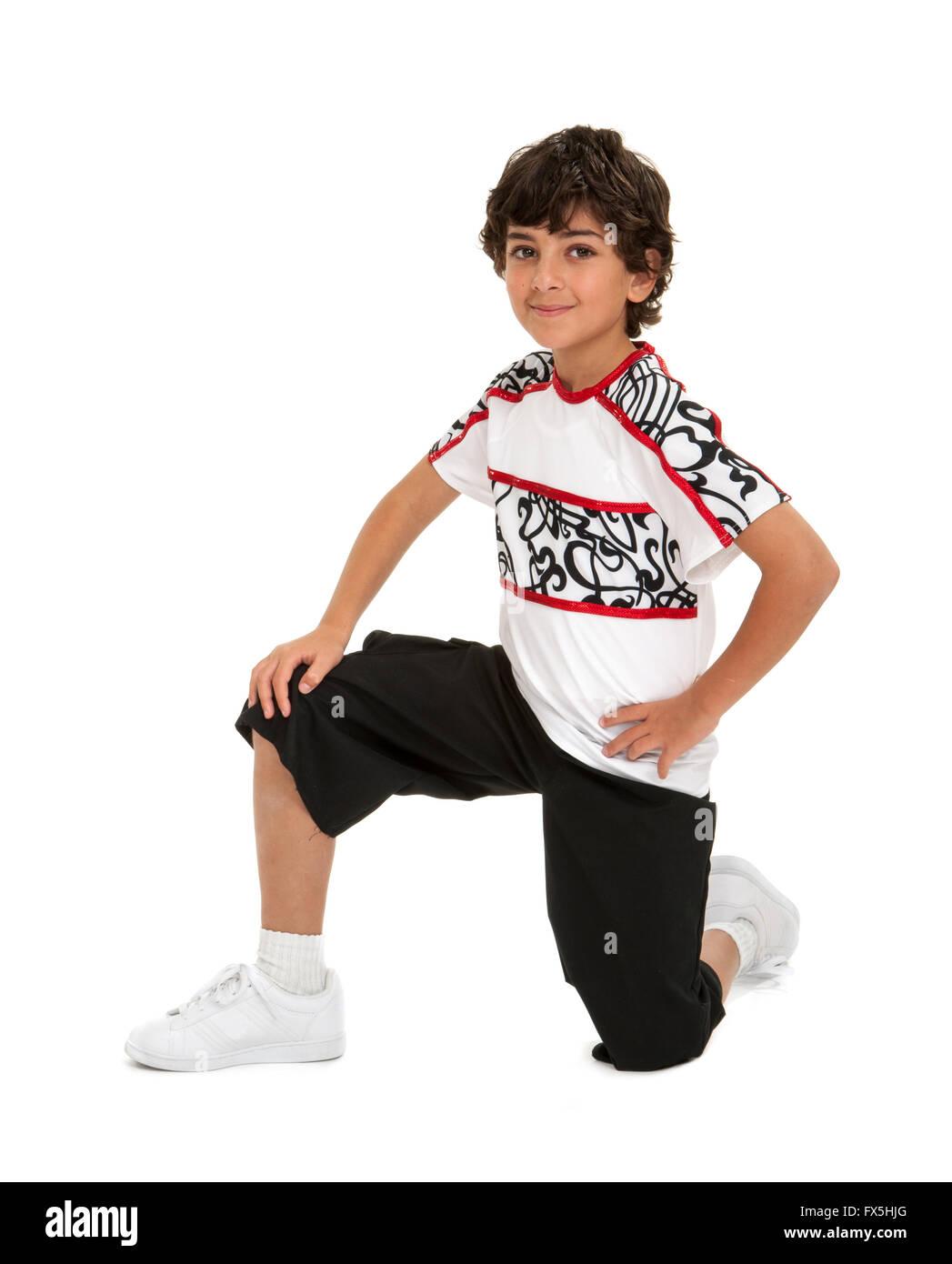 Young Boy Dancer with Hip Hop Attitude - Stock Image