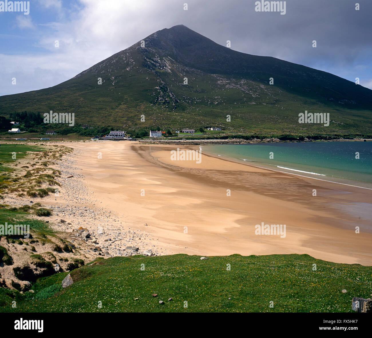 Doogort Beach, Achill Island, West Coast of Ireland Stock Photo