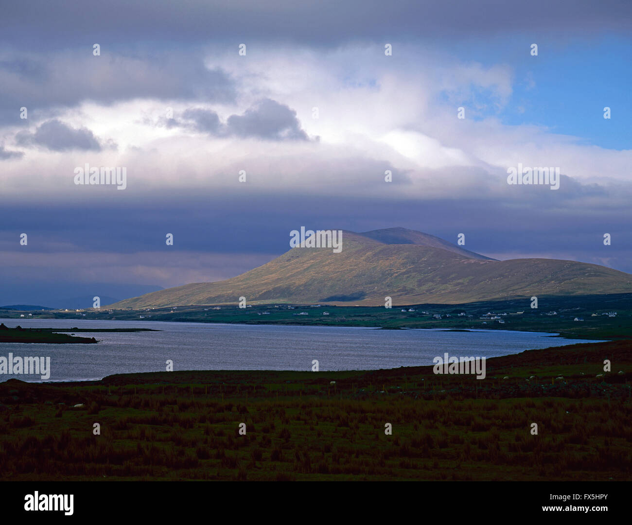 Achill Sound, sea between Achill Island and County Mayo mainland, West coast of Ireland - Stock Image
