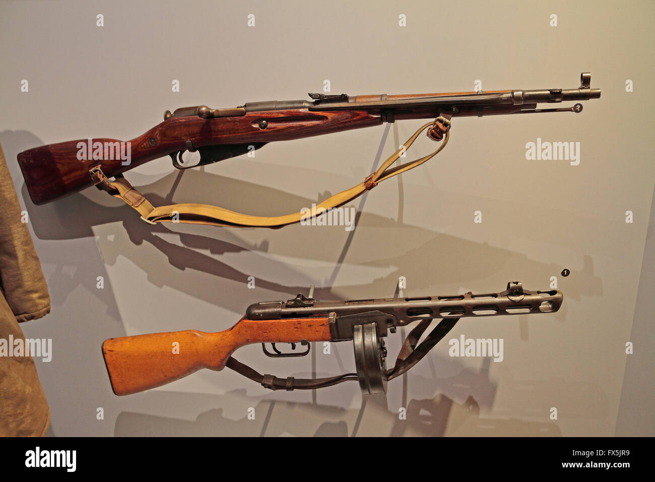 Weapons Of War Stock Photos Images Alamy Net Mosin Nagant Schematic Get Free Image About Wiring Diagram Russian Wwii M1944 Top And Ppshim1941 Bottom In