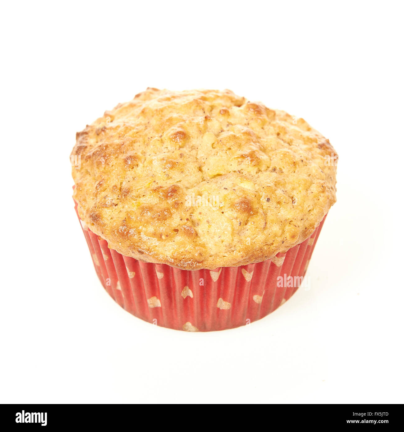 Low calorie muffin isolated on a white background - Stock Image