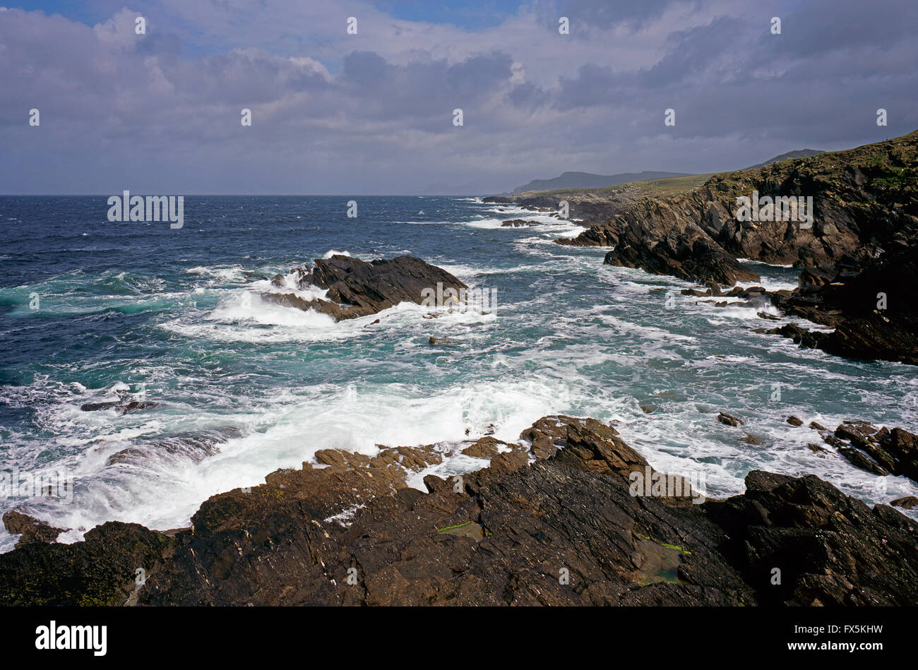 Atlantic seas of Achill Island, County Mayo, West Coast of Ireland Stock Photo