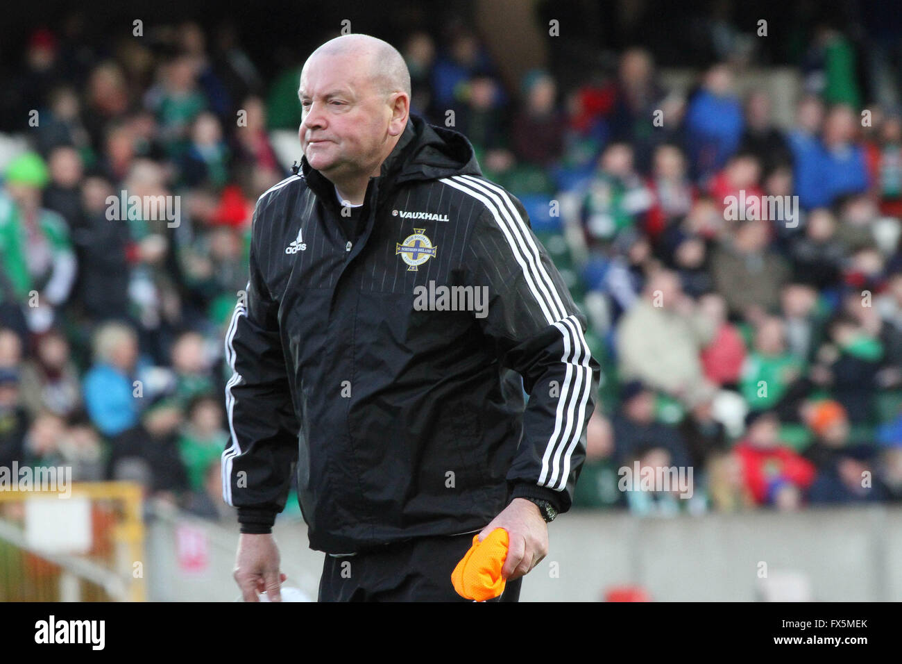 28 March 2015 - Vauxhall International Challenge (Friendly). Northern Ireland 1 Slovenia 0. Northern Ireland team - Stock Image