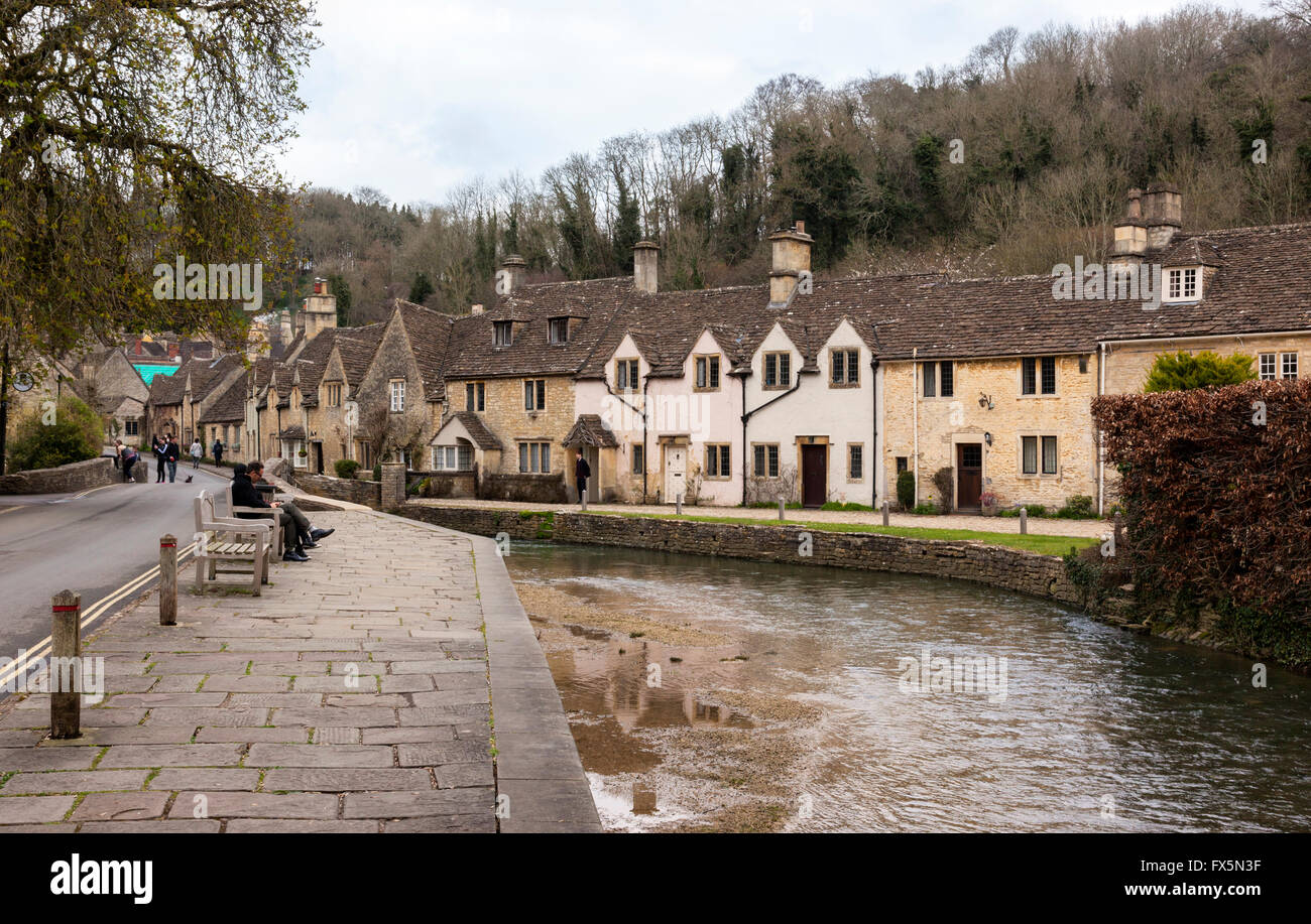 Castle Combe, Wiltshire, England - Stock Image