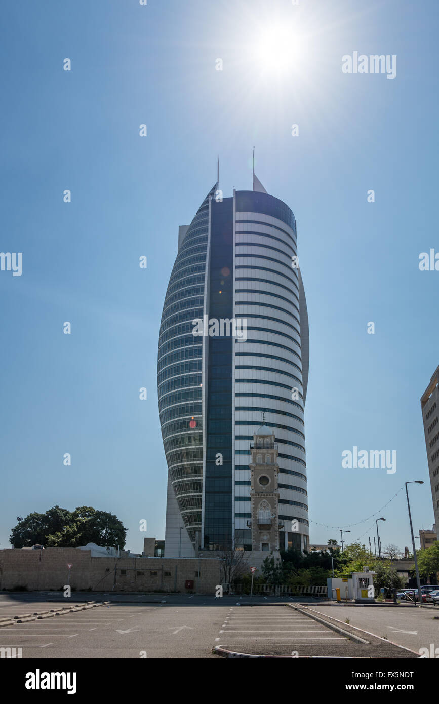 Sail Tower in Haifa, Israel - Stock Image
