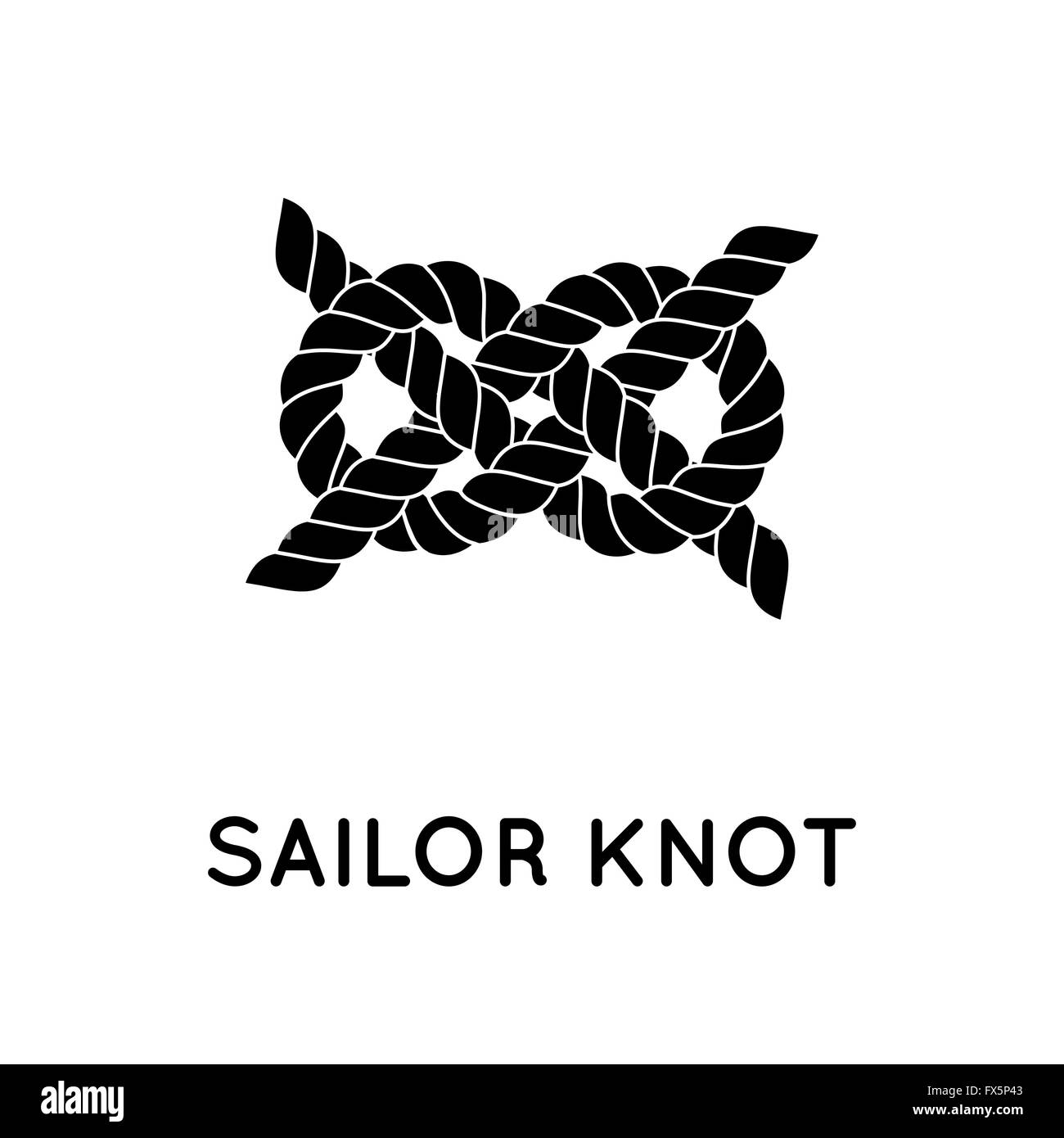Sailor rope knot - Stock Vector