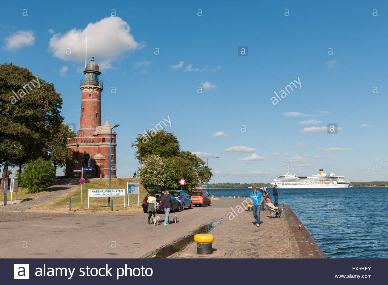 Lighthouse, Kiel, Holtenau, Schleswig-Holstein, Germany / Kiel - Stock Image