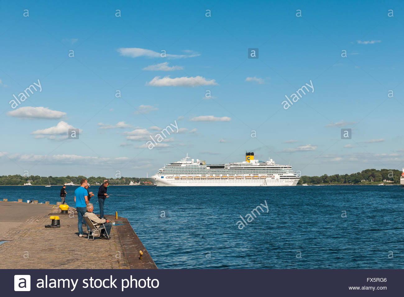 Cruise ship, Costa Pacifica, Kiel, Holtenau, Schleswig-Holstein, Germany / Kiel - Stock Image