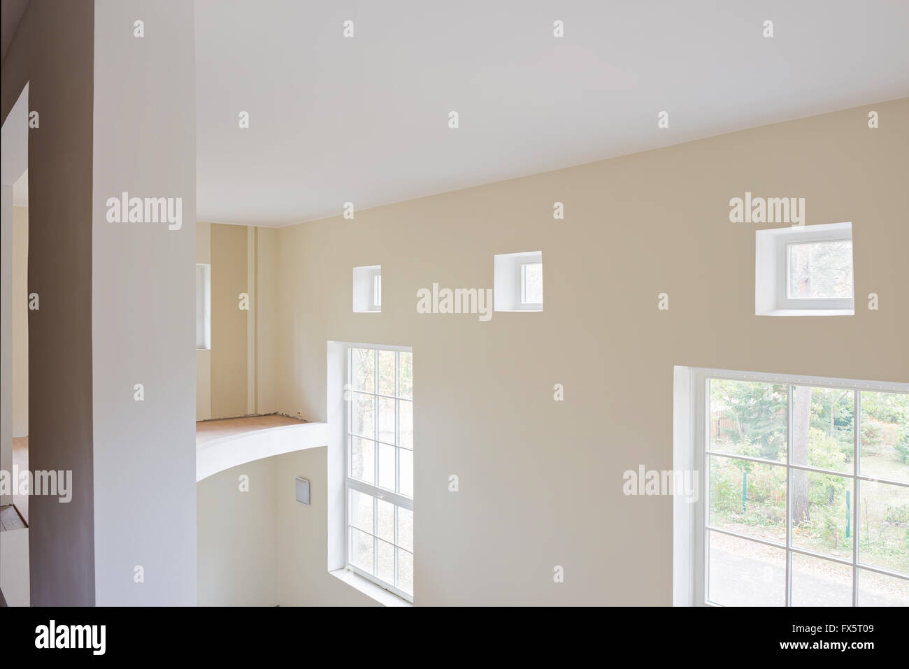 Unfinished construction interior of living room Stock Photo ...