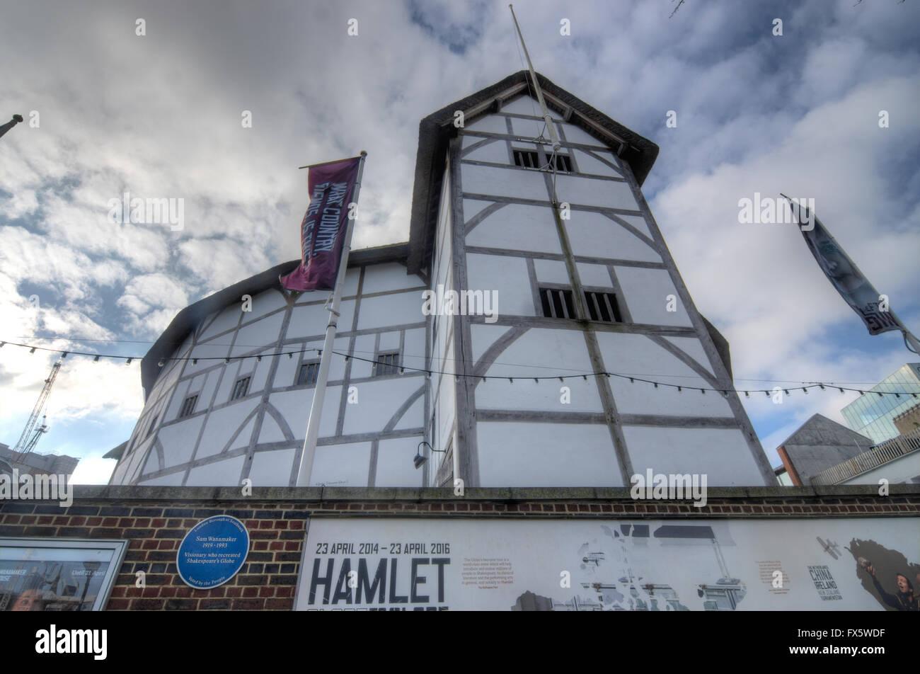 the globe theatre,  London.  Shakespeare's Globe.   Tudor Theatre - Stock Image