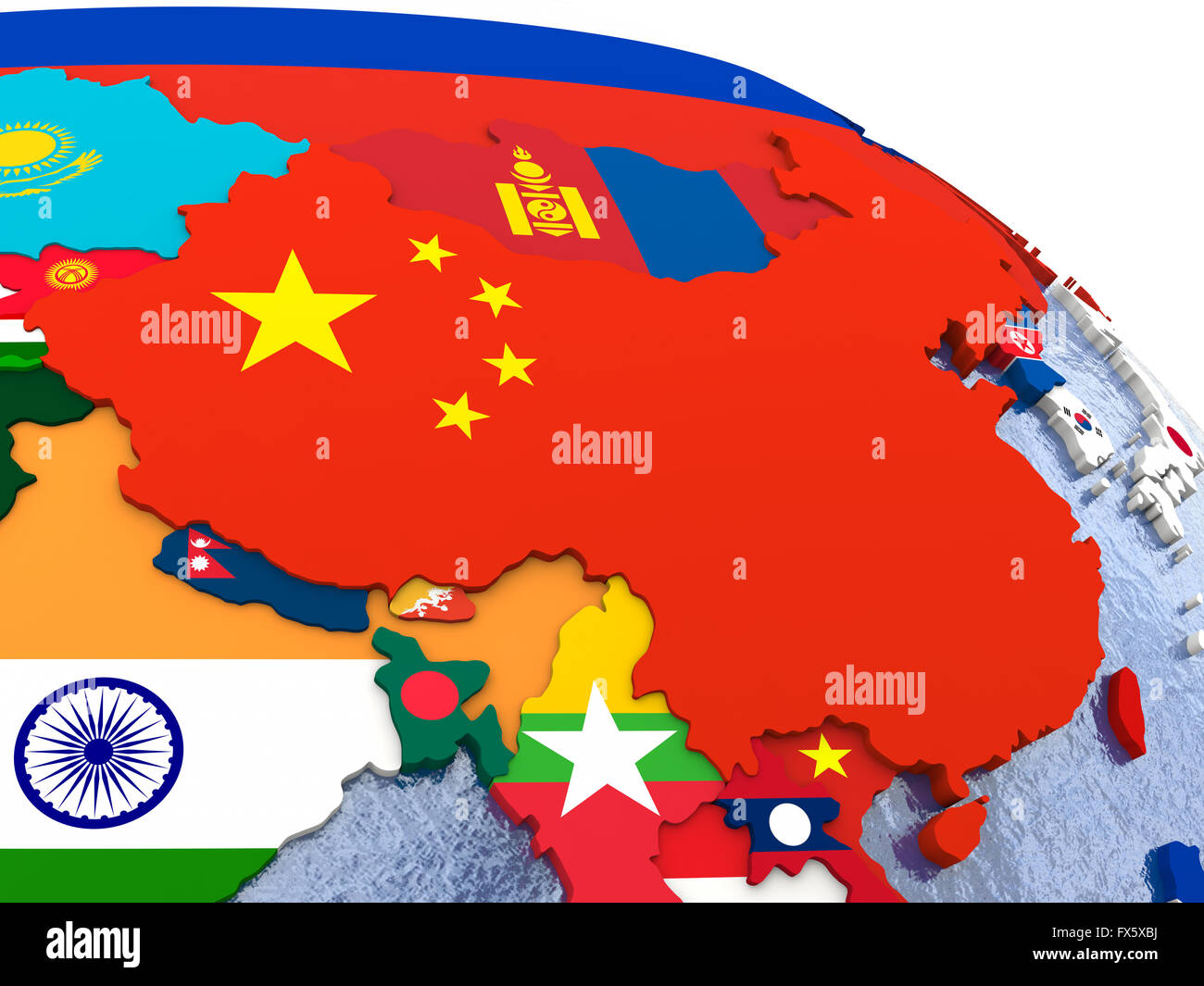 Map Of China Region.China Political Map Stock Photos China Political Map Stock Images