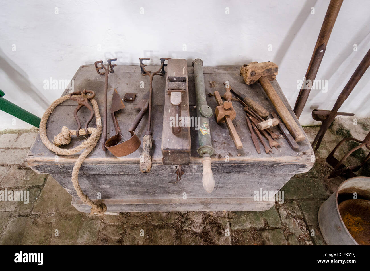 Old Farm Tools High Resolution Stock Photography And Images Alamy