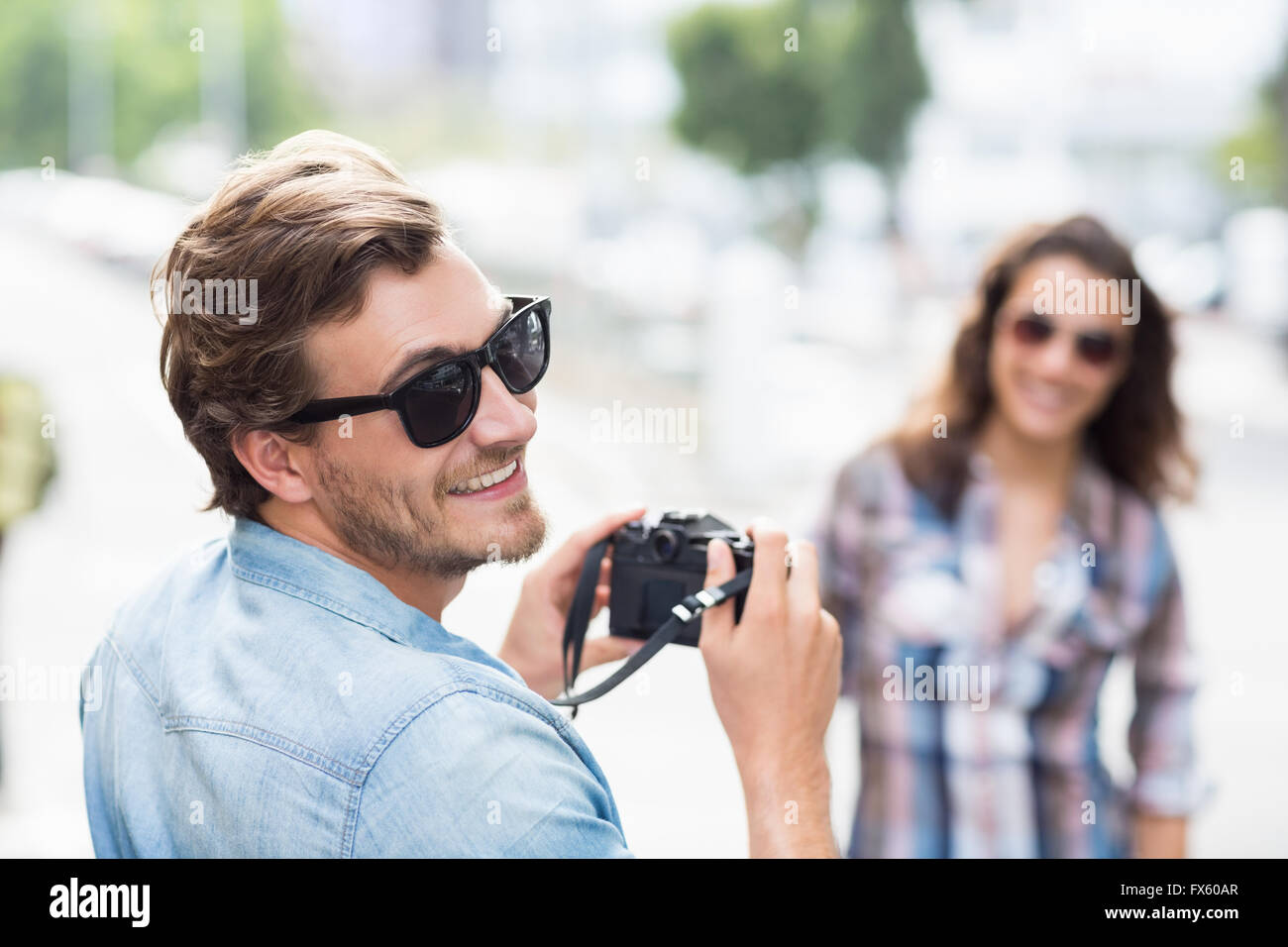 Man smiling at camera - Stock Image