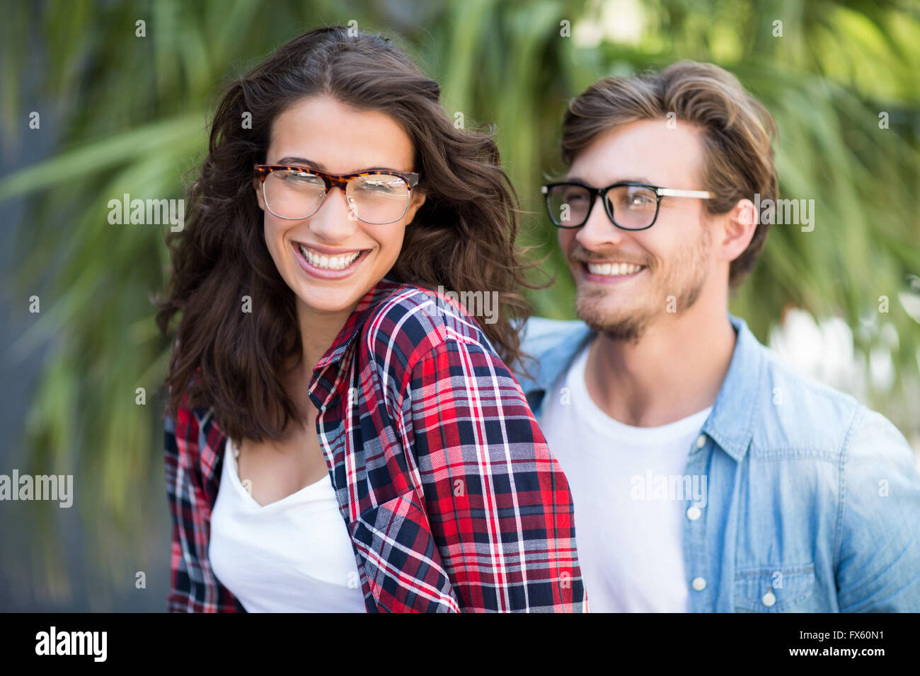 Young couple in spectacles - Stock Image