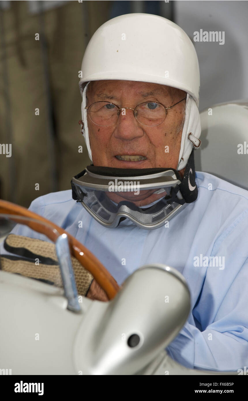 Legendary racing driver  Sir Stirling Moss - Stock Image