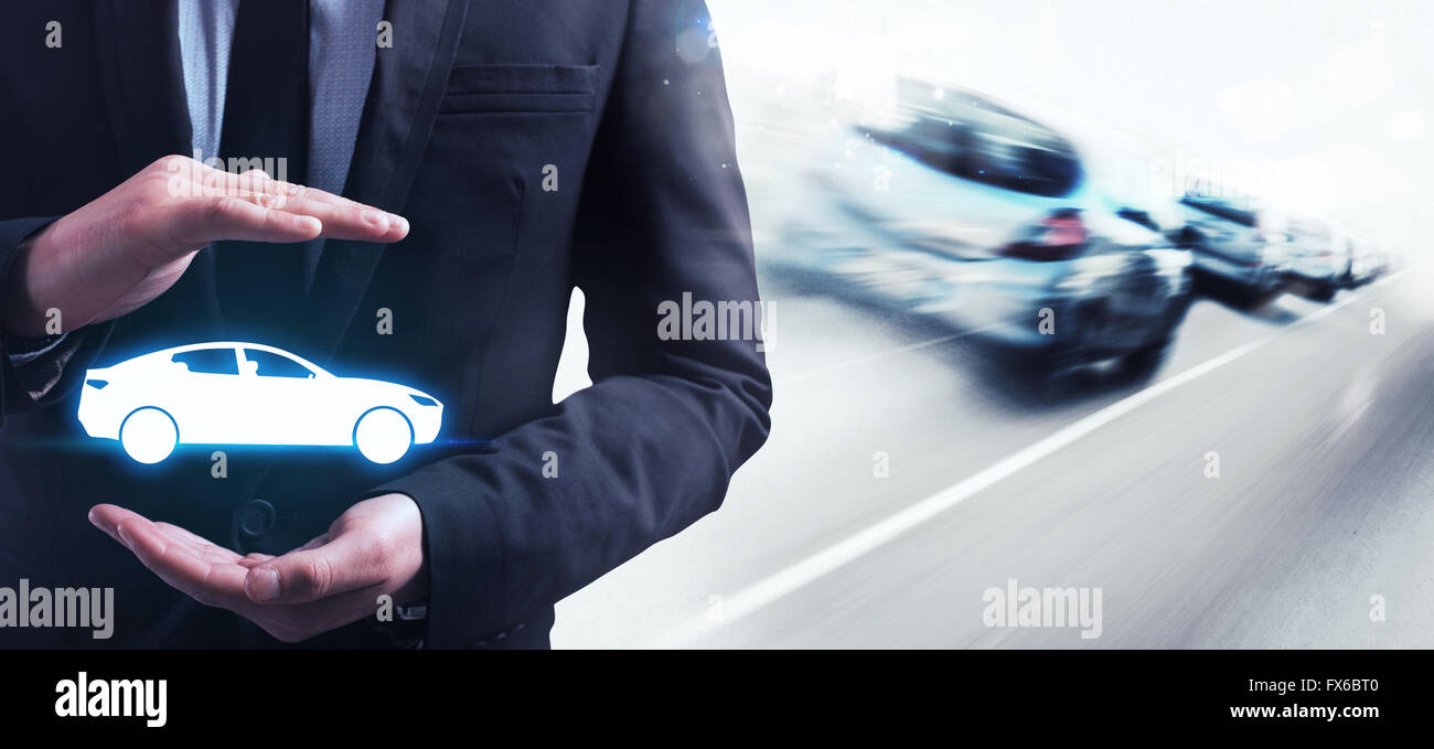 Insurance car - Stock Image
