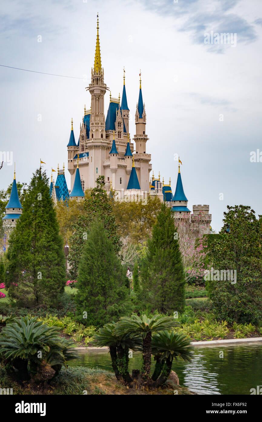 Cinderellas castle in Magic Kingdom theme park in Walt DIsney World, Orlando, Florida Stock Photo