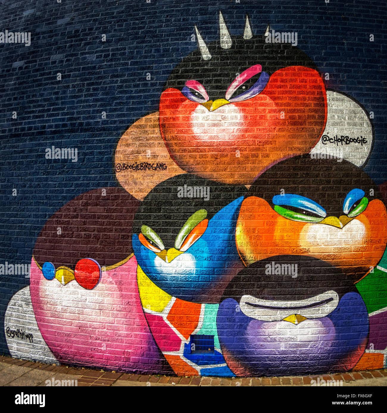Baylor Street Art Wall: Austin Texas Street Art Stock Photos & Austin Texas Street