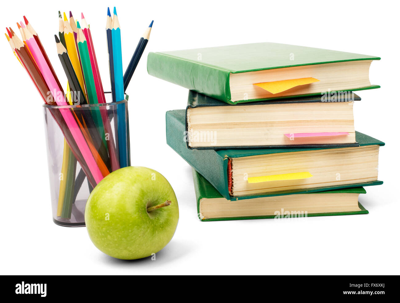 books with crayons stock photo 102185542 alamy