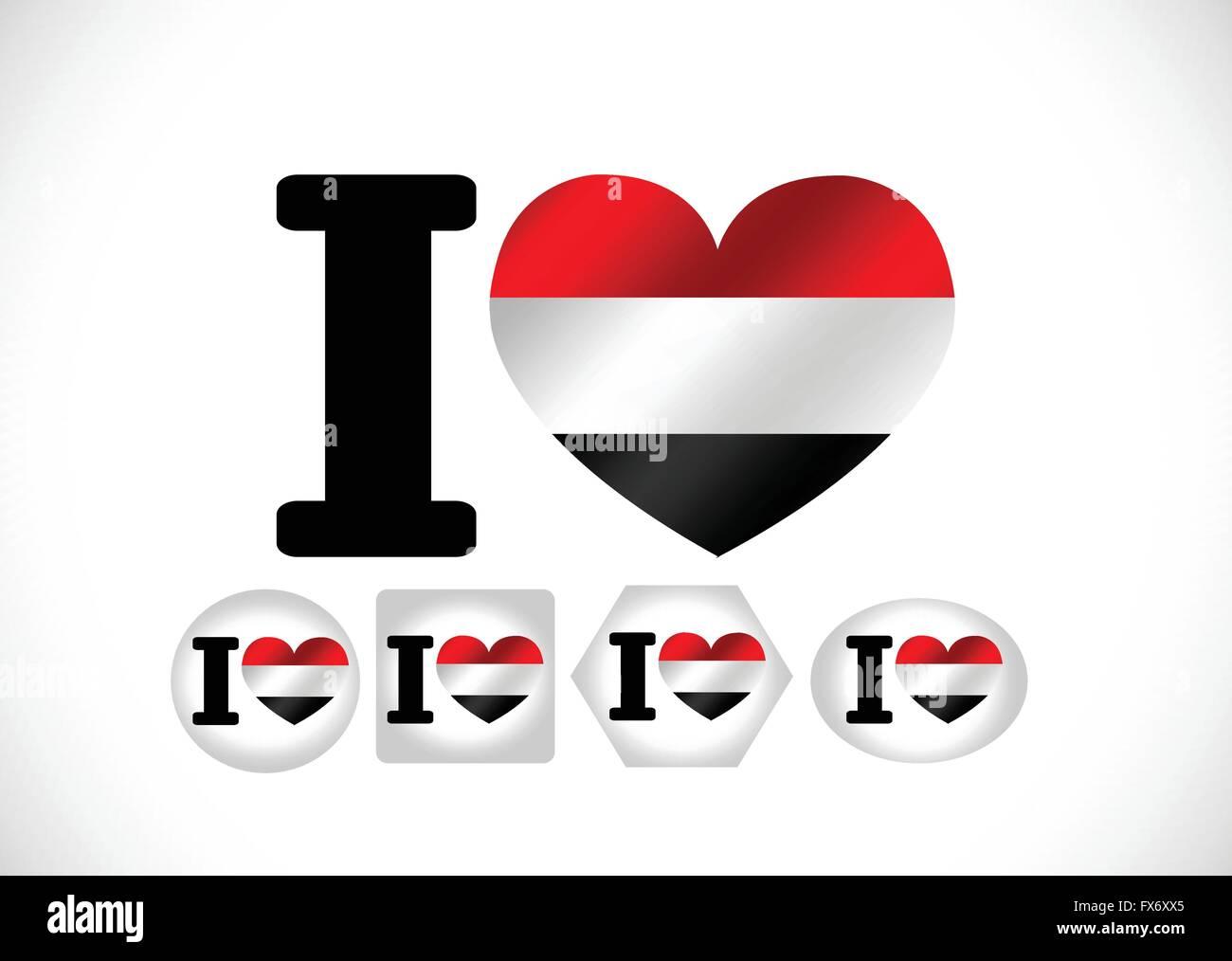 flag of Yemen themes idea design - Stock Vector
