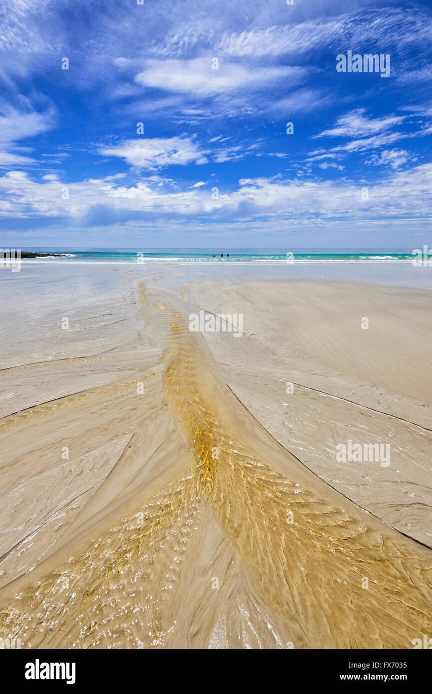Ripples in the Sand, Sisters Beach, Tasmania, Australia Stock Photo
