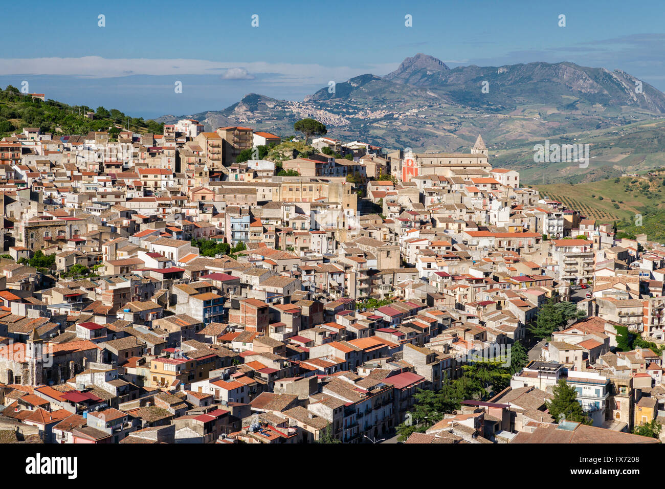 Ciminna, film location of The Leopard, il Gattopardo, directed by Luchino Visconti, Province of Palermo, Sicily, - Stock Image